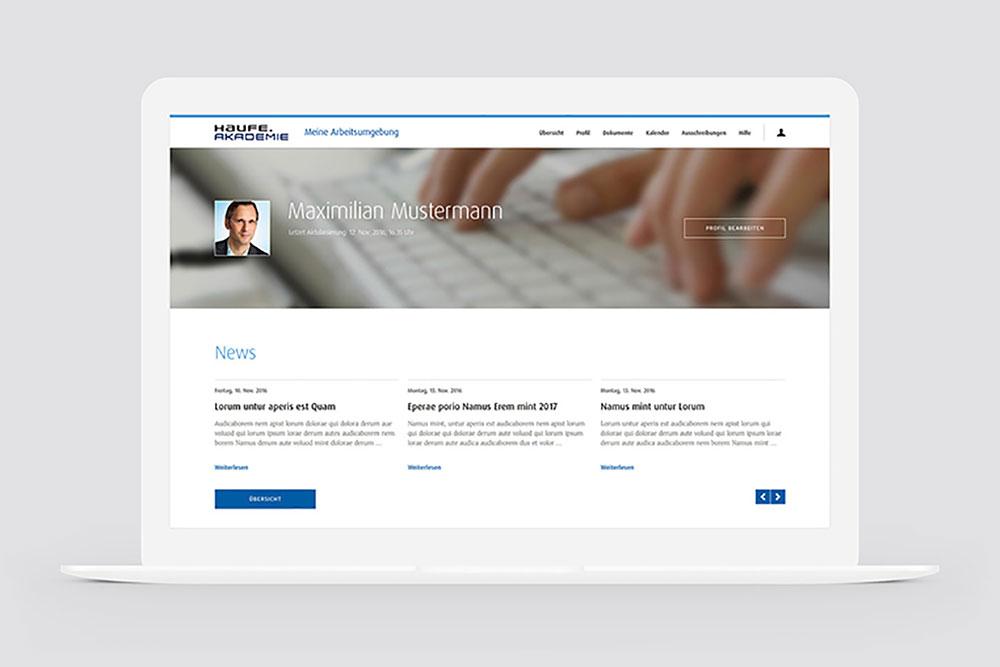 Screenshot Haufe Akademie Online Portal AU
